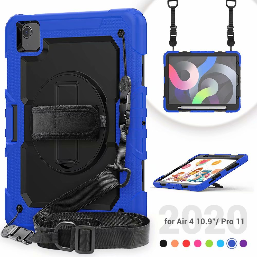 iPad 4th Silicone Duty Case Kickstand For Air Protective Generation with Screen Heavy Film