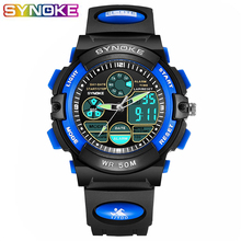 SYNOKE Quartz Digital Kids Wrist Watches 50m Waterproof Children's Watc