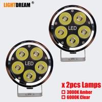 High Power 4 inch LED Work Light Bar for Driving Off road Boat Car Tractor Truck 4x4 SUV ATV 12V 24V Motor Led work lights x2pcs
