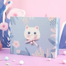Boîte-cadeau de saint-valentin, ravissante tasse à griffes de chat, petite cloche, boîte-cadeau pour amoureux d'anniversaire, boîte d'emballage