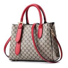 2019 New Women Leather Handbags Luxury Desinger Female Shoulder Bag Red Printing Ladies Tote Bags For Messenger Bolsas Sac
