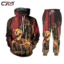 Tracksuit Vest Hoodie Streetwear-Pants Skull Men/women Jersey Clothing Shorts Casual
