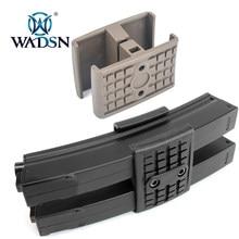 Wadsn Airsoft táctico MP5/MP5K Magazine doble abrazadera de Rifle de caza mp5 rápido Dual Mag Clip de pistola Accessoorries
