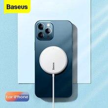 Baseus15W – chargeur magnétique sans fil pour iPhone 12 Pro Max Qi PD, charge rapide sans fil, coussin à Induction, Magsafing