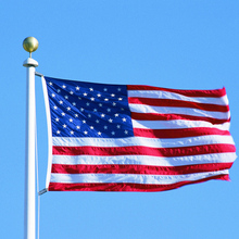 150X90CM USA Flag 100% Polyester Solid Material Decorations for Important Event Celebration or Parades Flag DAY(Clearance Price) недорого