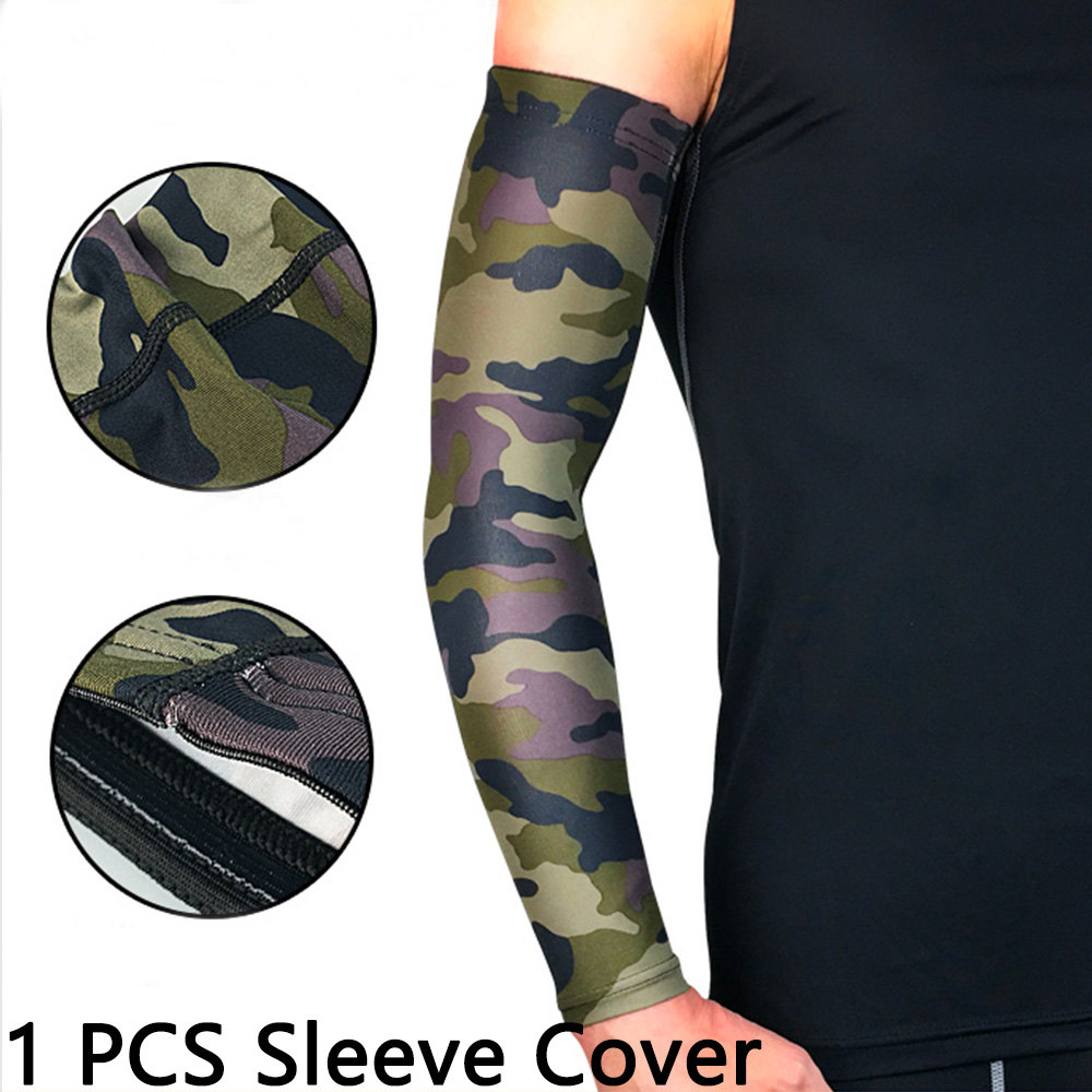 Running Arm Sleeves Quick Dry UV Protection Basketball Elbow Pad Fitness Armguards Sports Cycling Arm Warmers