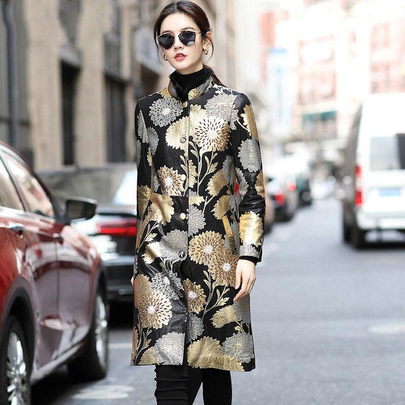 Real Fur Coat Female Genuine Leather Jacket Autumn Winter Coat Women Clothes 2020 Mink Fur Collar Sheepskin Coat ZT4808
