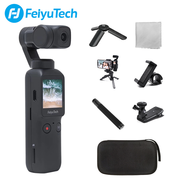 Feiyutech Feiyu Pocket Stabilized Camera With 6 Axis Hybrid Stabilization 4K 60fps 270 Mins Handheld Gimbal Camera Stabilizer