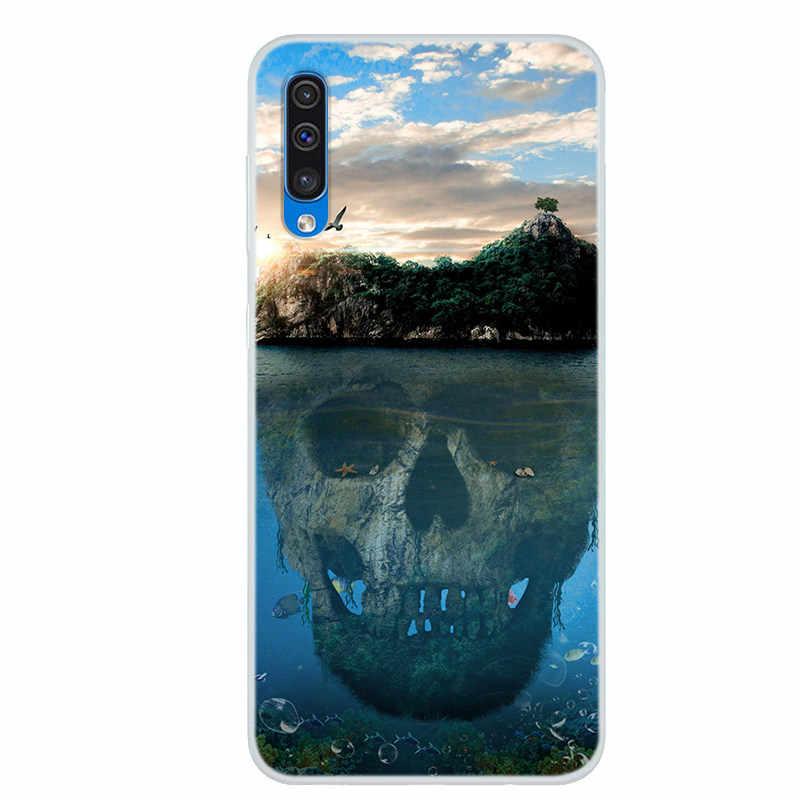 Untuk Samsung Galaxy A50 Case Kartun Silikon Lembut Ponsel Cover untuk Samsung Galaxy A70 Case Coque untuk Galaxy A60 kasus 50 70