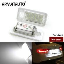 Автомобильный светодиодный номерной знак canbus, 2 шт. светильник свет, 6000 К, 3 Вт, 18SMD, светодиодный номерной знак для Audi A4, A6, C6, A3, B6, B7, S6, A8, Q7