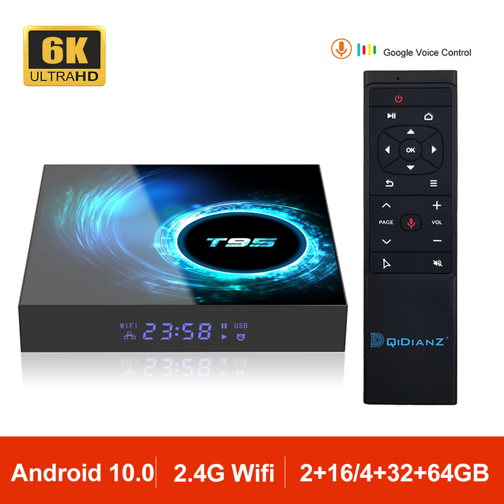 Android 10 0 T95 Smart TV Box Allwinner H616 Quad Core 2 4G Wifi 6K Set Top Box Mini Media Player TV Receiver 2GB 4GB VS HK1
