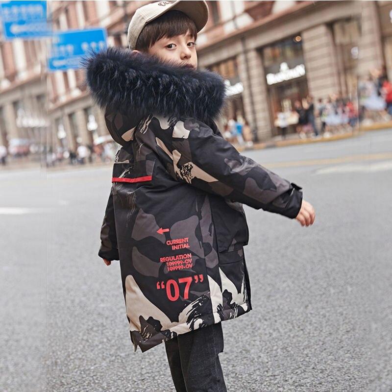 От 10 до 12 лет для мальчиков-подростков с камуфляжным принтом, с меховой подкладкой пальто с капюшоном зима 2020 Маскировка куртка для детей, од...