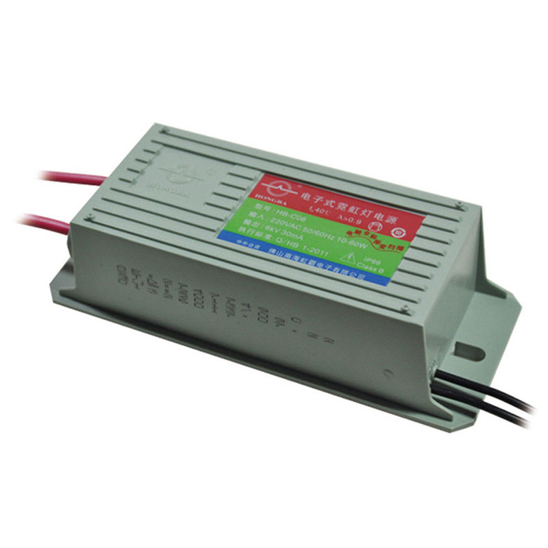 New Neon Electronic Transformer 6KV 30mA 60W Neon Power Supply Rectifier 10-60W 30mA For Chang Ming Jump Flash High Quality