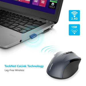 Image 3 - TeckNet 2.4Ghz Wireless Mouse Computer Mouse with USB Receiver Mause 2600DPI Optical Ergonomic Mice for Laptop Desktop PC