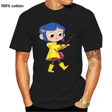 Coraline T-Shirts Crazy Hipster Super T Shirt Basic Solid Letters Tshirt Brand 100% Cotton T-Shirt Top Tee