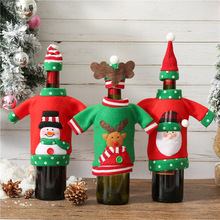 Christmas Decoration Santa Claus Wine Bottle Cover Gift Sack Hold Bag Snowman Xmas Decor Home New Year E