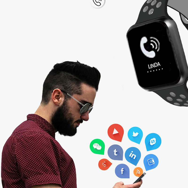 F9 s PK iwo8 b57 Touch Screen smart watches to Monitor Heart rate and Blood pressure Supported for IOS Android for men women 19