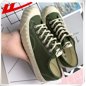 Warrior 2020 Fashion Women Vulcanized Shoes Sneakers Ladies Lace-up Low-top Casual Shoes Breathable Canvas  Biscuit Shoes Flat