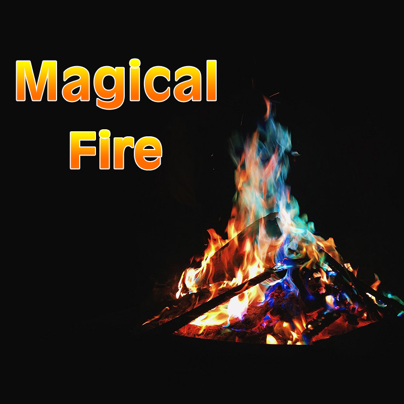 Clearance SaleFireplace Flames-Powder Pyrotechnics-Toy Campfire Magic-Trick Coloured Party for 600g