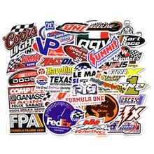 50 قطعة سباق ملصقات السيارات الكتابة على الجدران ألواح رسومات للسيارات يمكنك تركيبها بنفسك تعديل ملصق مضاد للمياه للدراجات النارية دراجة خوذة موتور حقيبة كمبيوتر محمول