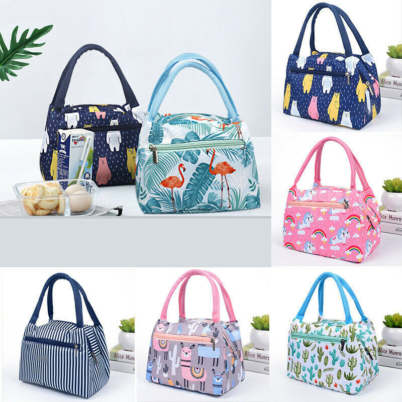 Newest Adults Women Portable Thermal Insulated Lunch Bag Kids Girl Picnic Waterproof Tote Cooler Lunch Box Bag Dropshipping