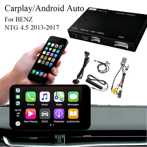 Car Wireless Carplay Android Auto Interface Support Font&Rear Camera Bluetooth for Mercedes Benz NTG 4.5 2013-2017
