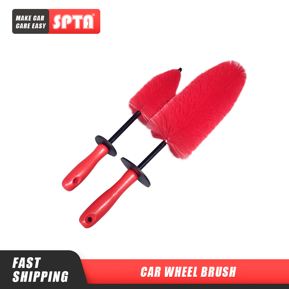 SPTA Flame Red Rocket Detailing Brush Super Strong Soft Hair Scratch Free Car Wheel Tire Rims Chrome Spokes Cleaning Brush|Sponges, Cloths & Brushes| - AliExpress