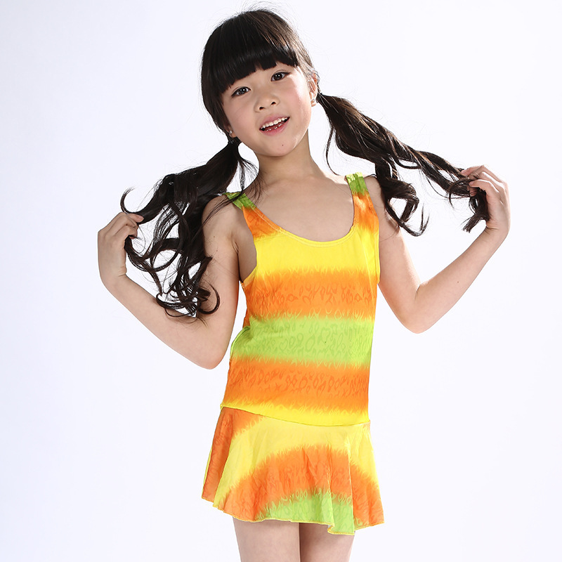 2019 New Style One-piece Swimming Suit-Style GIRL'S Dress-Multi-color Hot Selling Hot Selling Swimwear