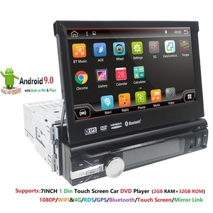 "Image 1 - أندرويد 9 1 الدين مشغل أسطوانات للسيارة لاعب راديو تلقائي لتحديد المواقع والملاحة 7 ""1024*600 العالمي واي فاي بلوتوث USB RDS ستيريو مشغل وسائط متعددة 4G"