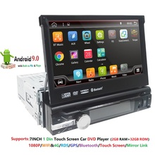 "Android 9 1 din Car dvd Player Auto Radio GPS Navigation 7""1024*600 Universal Wifi Bluetooth USB RDS Stereo Multimedia Player 4G"