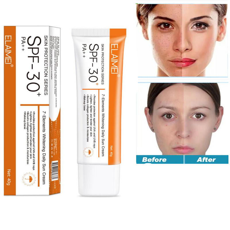 Face Body Sunscreen Cream Spf 30 ++ Moisturizing Skin Protect Sunblock Face Care Prevents Skin Damage, Remove Pigmention Sp 40g