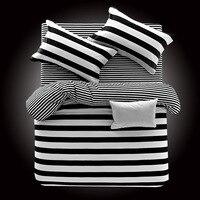 Export Black And White 100% Cotton Four piece Suit Sheet Quilt Cover Students Double Pure Cotton Bedding Three piece Set