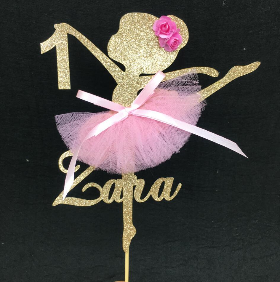 Ballerina Ballet Tutu Party Set Of 12 Cupcake Toppers