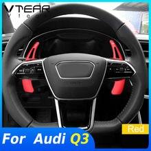 Vtear para Audi Q3 2019 2020 volante Cambio de paletas de palanca Interior Trim Modificación de coche Interior Accesorios