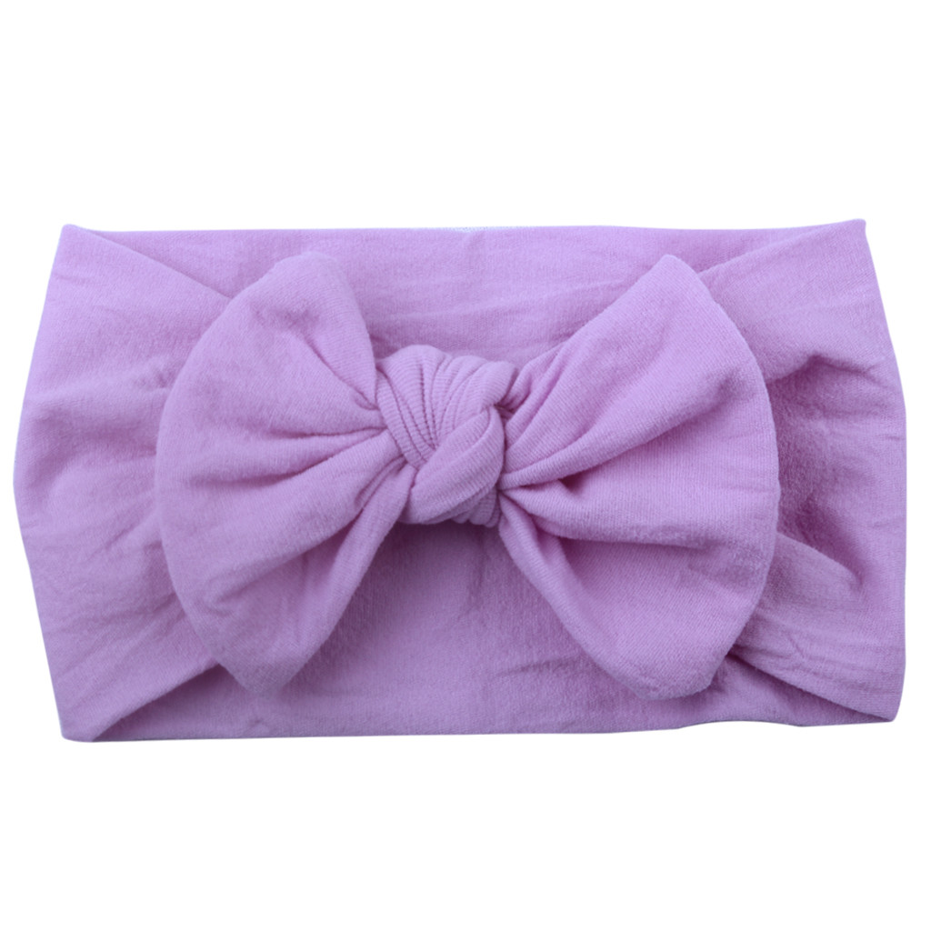 Newborn Toddler Baby Girls Head Wrap Knot Girls Baby Toddler Turban Solid Hair Band Bow Headwear Headband Hair Accessories