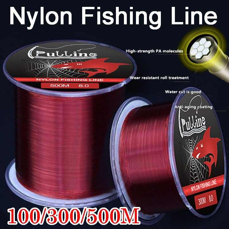 Fishing Line Super Strong Japanese 200M 500M Nylon Braided Transparent Line