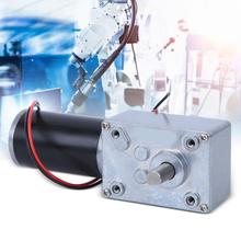 Worm Gear Motor Dual-Shaft Self-Locking DC Motor Low-Noise A58SW31ZYS for Robot Low-Noise Motor jgy370 self locking motor high torque dc gear motor 6v 12v 24v worm worm dc motor