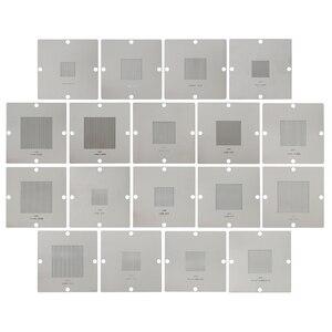 18 pcs Universal 90mm Bga Stencil Kit BGA Soldering Repair Reballing Tool for 0.3 0.35 0.4 0.45 0.5 0.55 0.6 0.76mm balls|kit kits|kit stencilkit reballing -