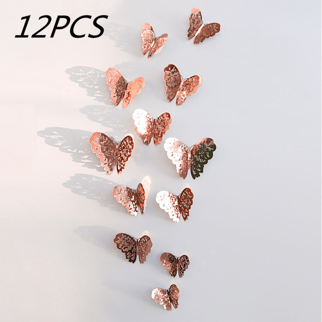 Crystal Butterfly Wall Stickers 12pc 3D Effect 10