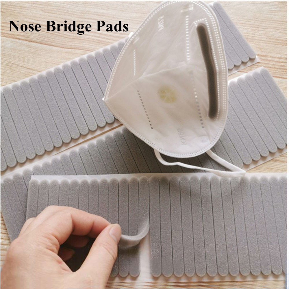 100Pcs Microfiber Foam Protection Strip Anti-Fog Nose Bridge Pads Cushion Mouth Mask DIY Making Fix Protection Mask Materials