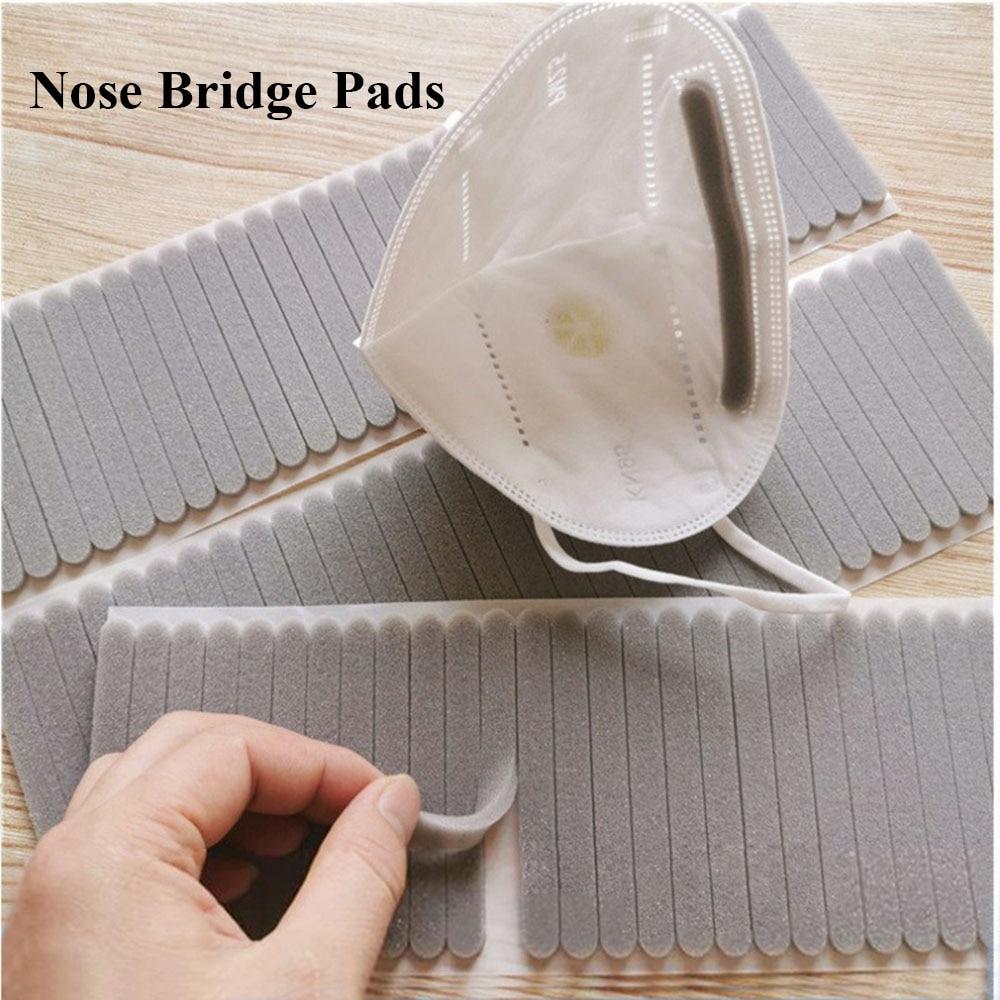 100Pcs Microfiber Foam Protection Strip Anti-Fog Nose Bridge Pads Cushion Mouth Mask DIY Making Fix Protection Mask Materials