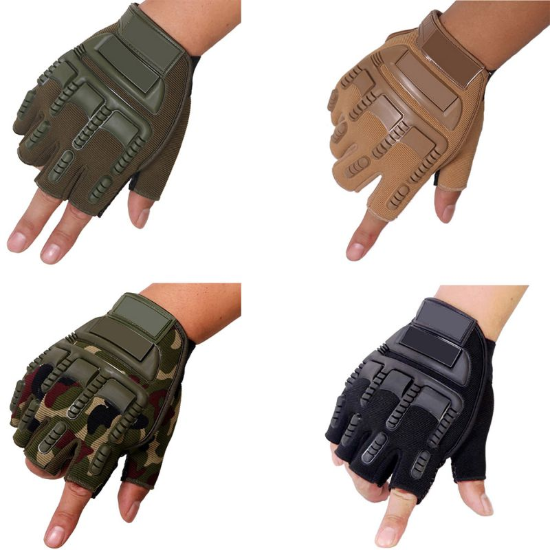 Men Biking Combat Half Finger Anti-slip Outdoor Sports Gloves Military Tactical Gloves
