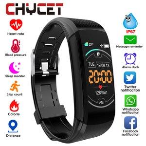 Image 1 - חכם כושר צמיד לחץ דם מדידה כושר גשש עמיד למים חכם להקת שעון קצב לב Tracker עבור נשים גברים