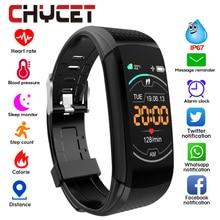 Bracelet de Fitness intelligent mesure de la pression artérielle traqueur de Fitness étanche bande intelligente montre traqueur de fréquence cardiaque pour les femmes hommes