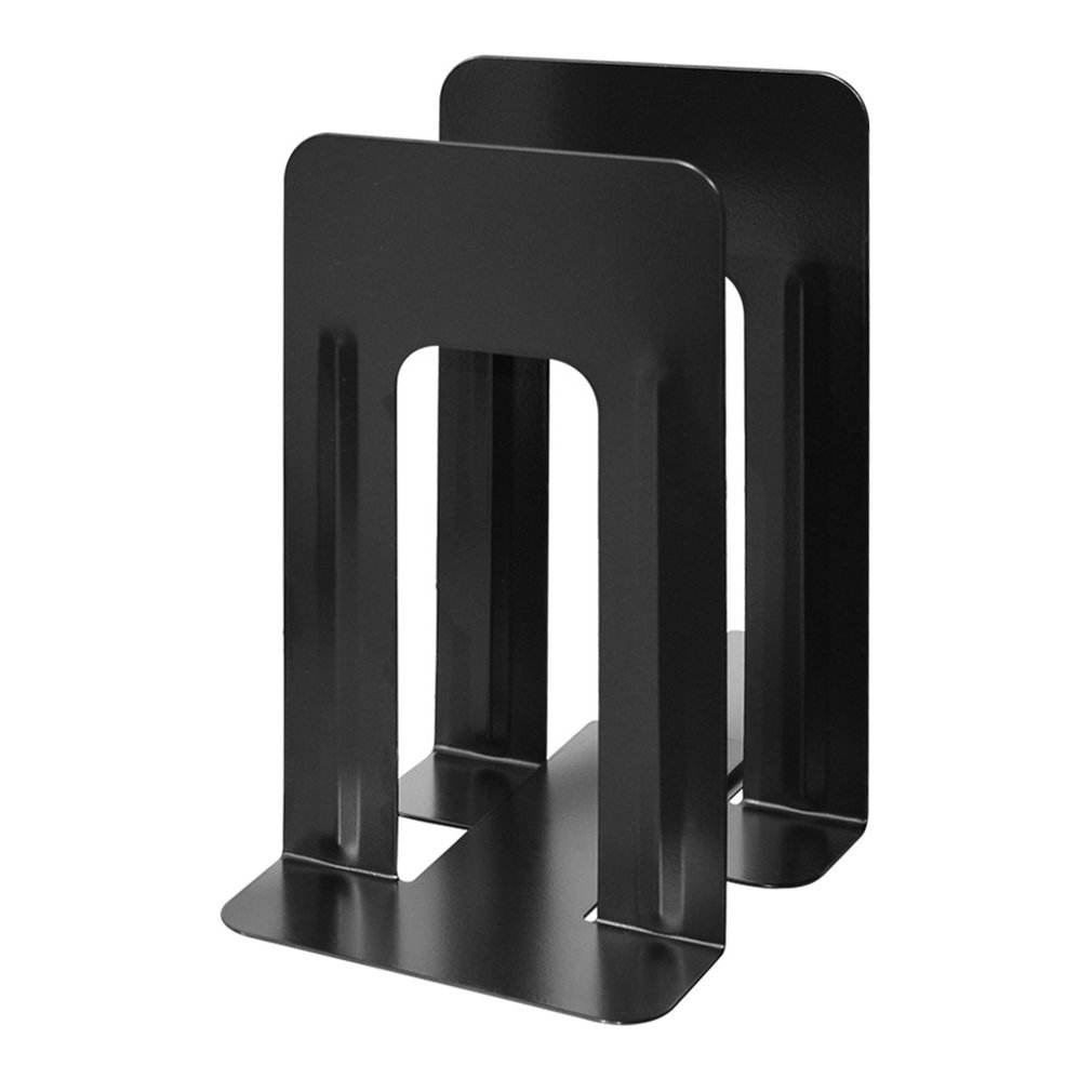 Simple Style Metal Bookends Iron Support Holder Desk Stands For Books Extra Large Book Support 24Cm Professional Dropshipping