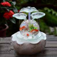 Lucky Feng Shui Turns Water Fountain Ornaments Living Room Transfer Ball Office Humidifier Home Decoration