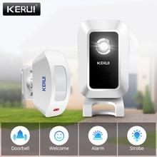 KERUI Drahtlose Shop Shop Willkommen Tür Eintrag Chime Smart Türklingel Mit Taste Vorhänge Infrarot Motion Detektor Tür Alarm