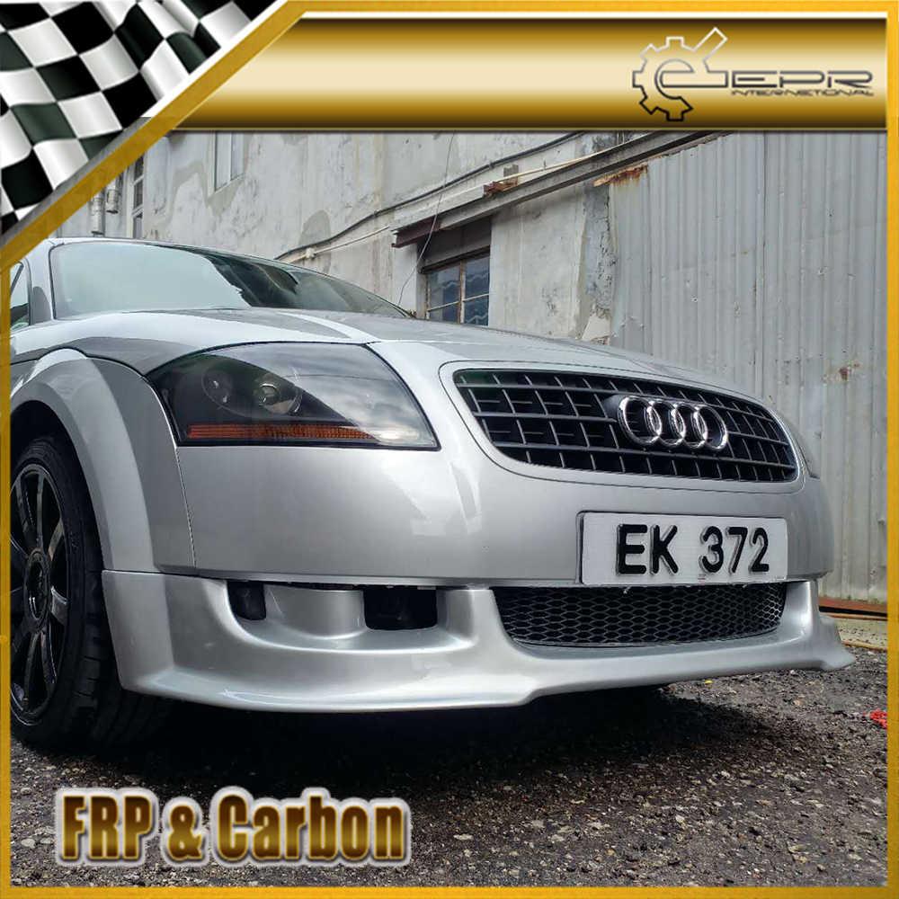 Araba Styling için Audi TT MK1 (tip 8N) 1998-2006 AB stil karbon Fiber ön dudak Trim vücut kiti ön tampon yarış için MK1 tt