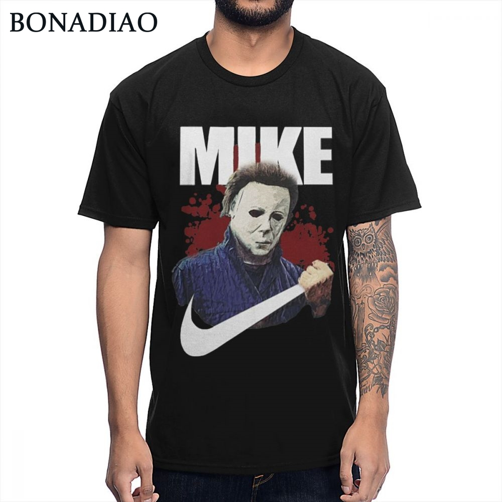 Michael Myers Movie Best Halloween Gift T Shirt Man 2019 Organic Cotton Round Collar Homme T-shirt