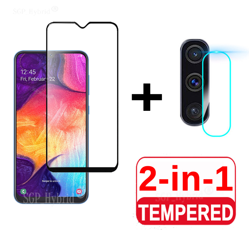 For Samsung Galaxy A50 A40 A70 A30 A20 A10 Screen Protector & Camera Tempered Glass For Samsung A 50 70 40 Protective Glass Film